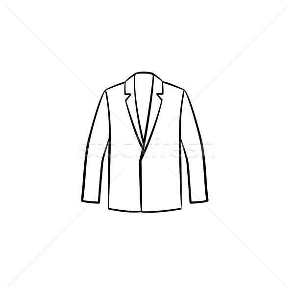 Blazer dessinés à la main croquis icône ligne isolé Photo stock © RAStudio