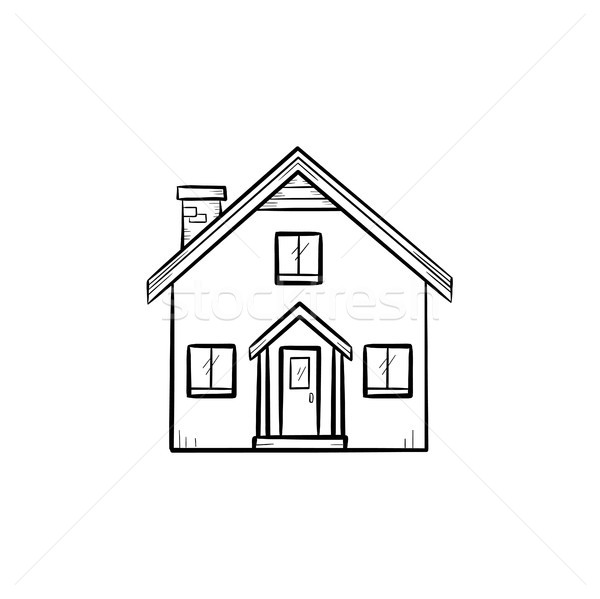 Detailed house hand drawn outline doodle icon. Stock photo © RAStudio