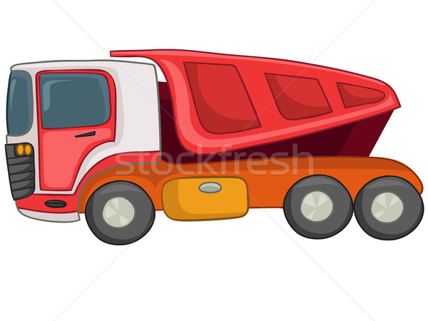 Stock photo: Cartoon Truck