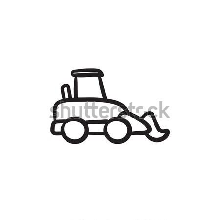 Car dumper thin line icon Stock photo © RAStudio