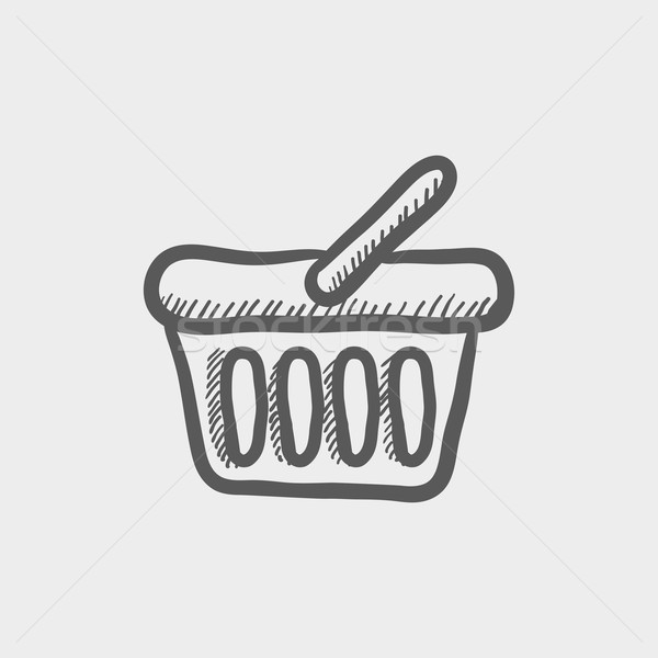 Shopping basket sketch icon Stock photo © RAStudio