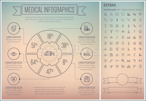 医療 行 デザイン インフォグラフィック テンプレート 要素 ストックフォト © RAStudio