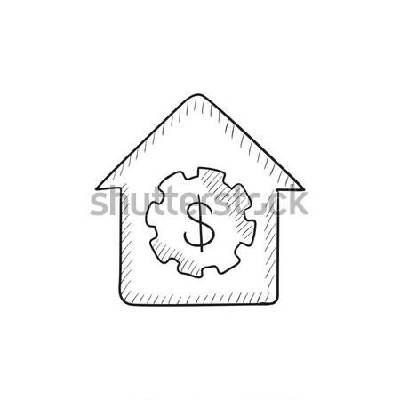 House with dollar symbol icon drawn in chalk. Stock photo © RAStudio