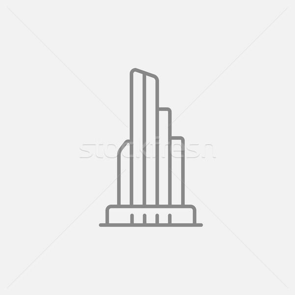 摩天大樓 辦公樓 線 圖標 網頁 移動 商業照片 © RAStudio