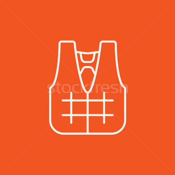 Life vest line icon. Stock photo © RAStudio