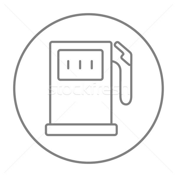 Station d'essence ligne icône web mobiles infographie Photo stock © RAStudio