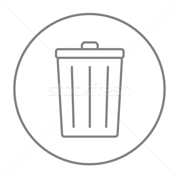 çöp kutusu hat ikon web hareketli infographics Stok fotoğraf © RAStudio