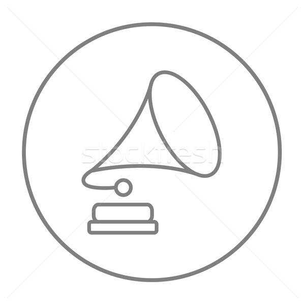 Stockfoto: Grammofoon · lijn · icon · web · mobiele · infographics