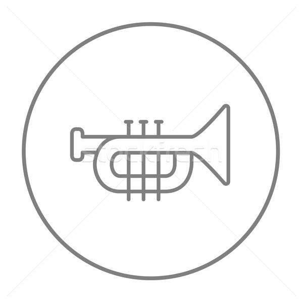 Trompet hat ikon web hareketli infographics Stok fotoğraf © RAStudio