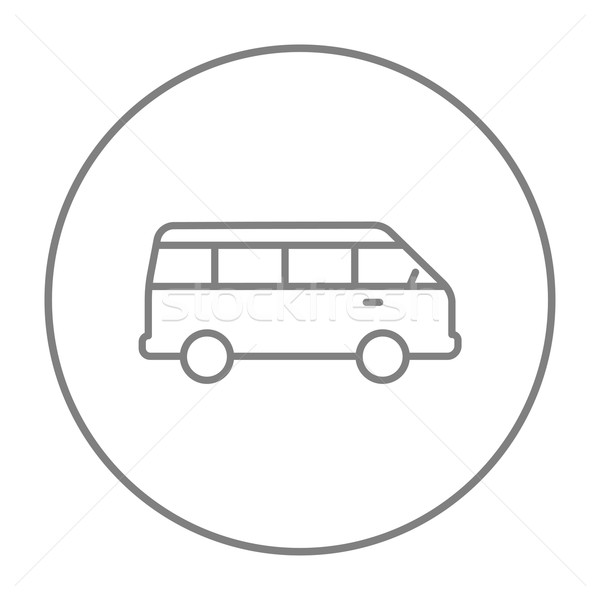 Minibus line icon. Stock photo © RAStudio