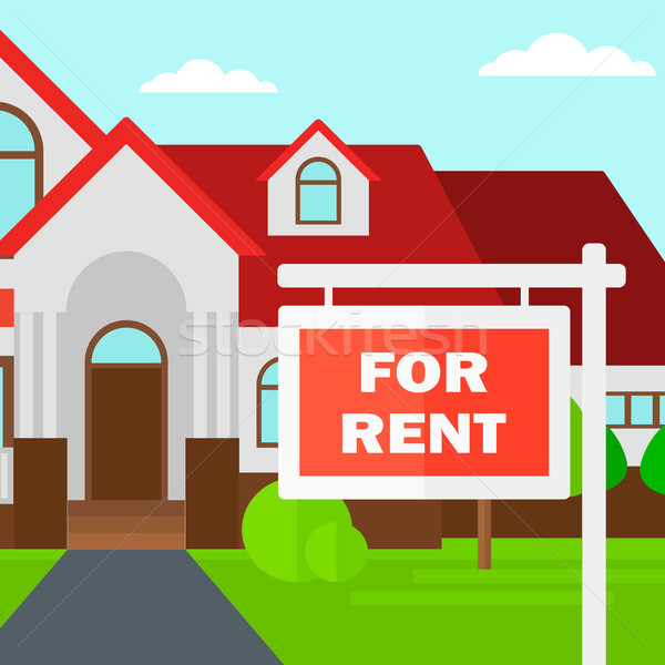 家 家賃 不動産 にログイン ベクトル デザイン ストックフォト © RAStudio