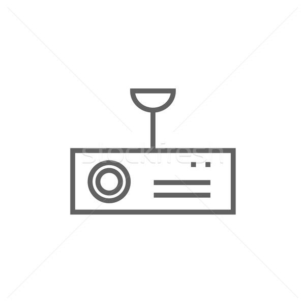 Digitale projector lijn icon hoeken web Stockfoto © RAStudio