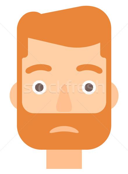 Jóvenes deprimido hombre barba vector diseno Foto stock © RAStudio