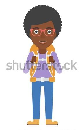 Woman taking off jacket. Stock photo © RAStudio