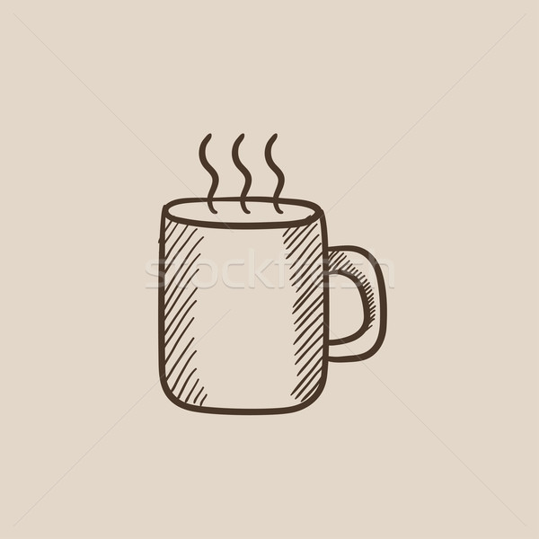 Mug of hot drink sketch icon. Stock photo © RAStudio