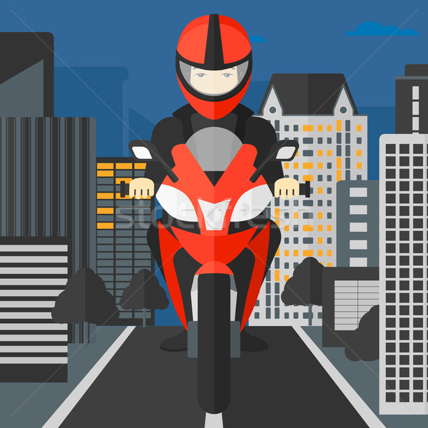 Man riding motorcycle. Stock photo © RAStudio