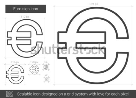 Euro symbol line icon. Stock photo © RAStudio