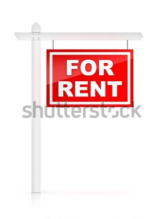 For rent placard line icon. Stock photo © RAStudio