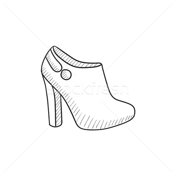 Enkel boot schets icon vector geïsoleerd Stockfoto © RAStudio