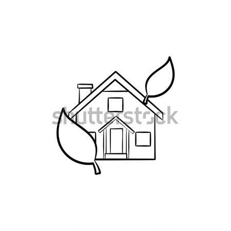 Eco-friendly house sketch icon. Stock photo © RAStudio