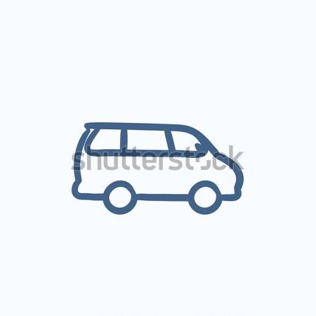 Minivan sketch icon. Stock photo © RAStudio