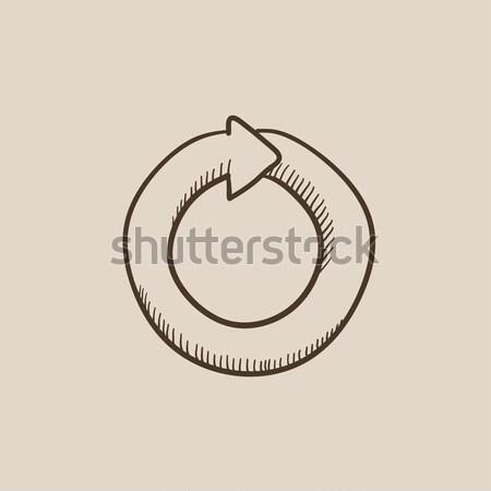 Circular arrow sketch icon. Stock photo © RAStudio