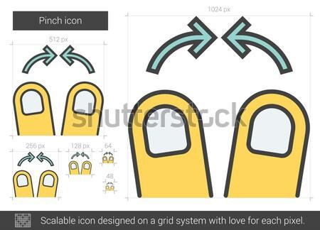 Enfocar línea icono vector aislado blanco Foto stock © RAStudio