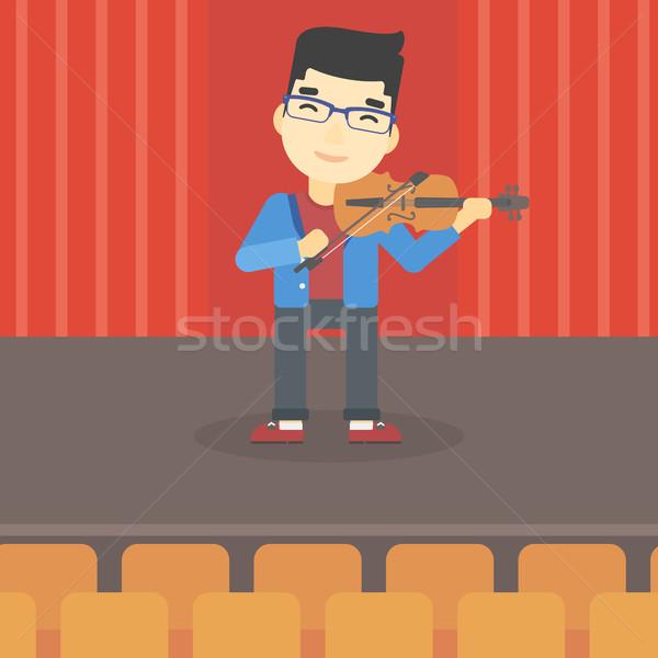 Homme jouer violon asian jeune homme violoniste Photo stock © RAStudio