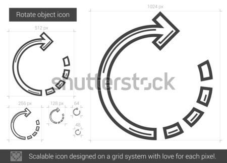 Forgat tárgy vonal ikon vektor izolált Stock fotó © RAStudio