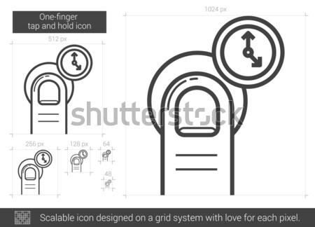 Torneira manter linha ícone vetor isolado Foto stock © RAStudio