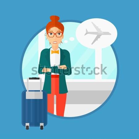 Mulher sofrimento medo voador mulher jovem assustado Foto stock © RAStudio