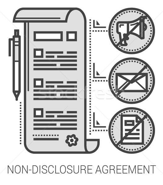 Non-disclosure agreement line icons. Stock photo © RAStudio