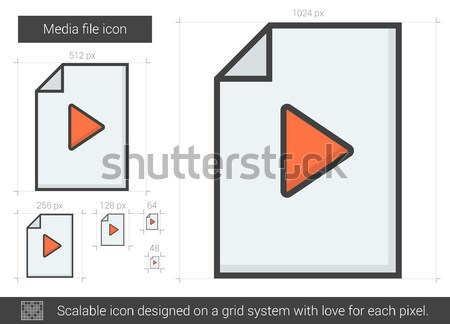 Media file line icon. Stock photo © RAStudio
