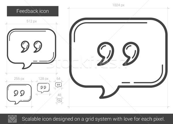Feedback línea icono vector aislado blanco Foto stock © RAStudio