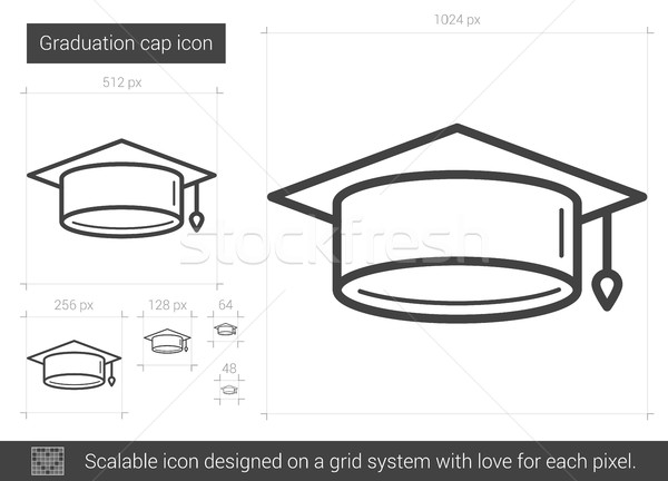 Graduation cap line icon. Stock photo © RAStudio
