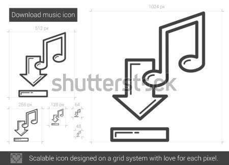Download Musik line Symbol Vektor isoliert Stock foto © RAStudio