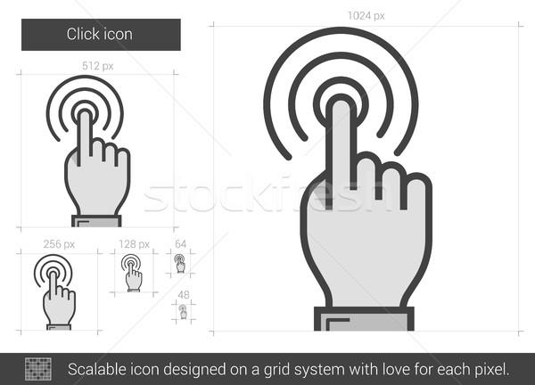 Kattintás vonal ikon vektor izolált fehér Stock fotó © RAStudio