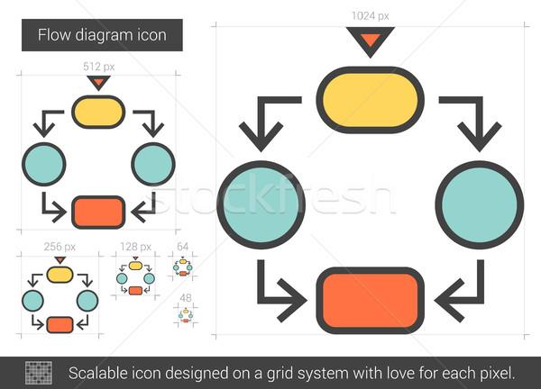 áramlás diagram vonal ikon vektor izolált Stock fotó © RAStudio
