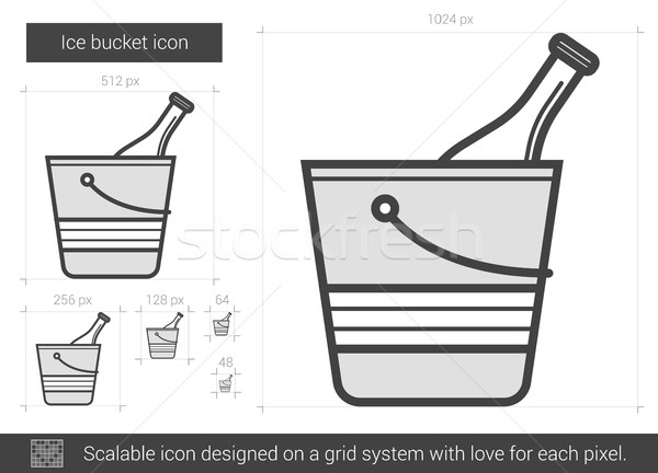 Ice bucket line icon. Stock photo © RAStudio