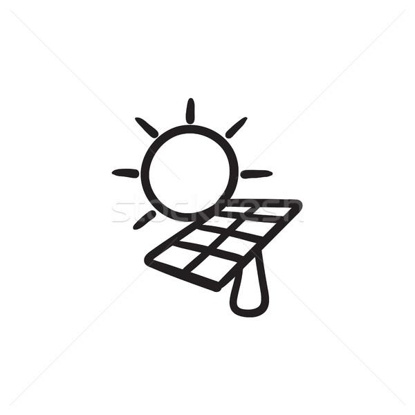 Solar energy sketch icon. Stock photo © RAStudio