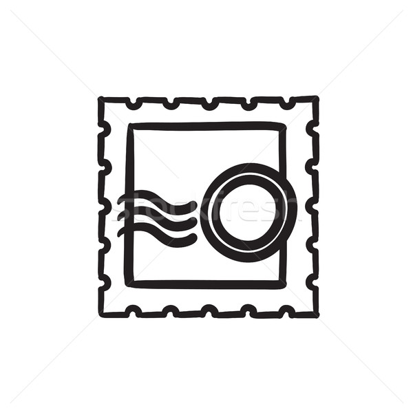 Stock photo: Philately sketch icon.