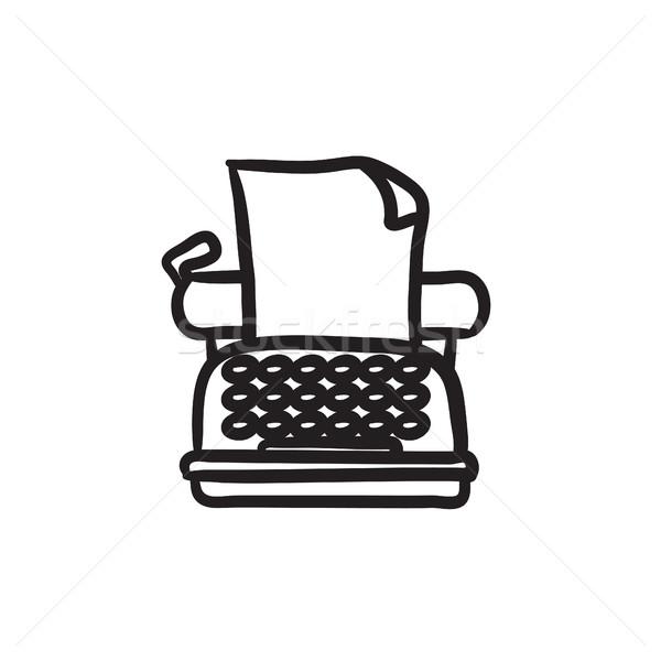Сток-фото: машинку · эскиз · икона · вектора · изолированный · рисованной