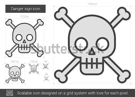 Danger sign line icon. Stock photo © RAStudio
