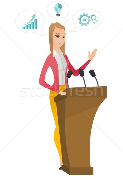 Polityk mowy publiczności za wektora Zdjęcia stock © RAStudio