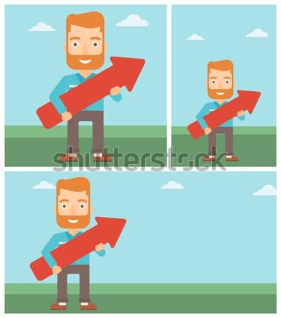Kettő sport bannerek űr szöveg vektor Stock fotó © RAStudio
