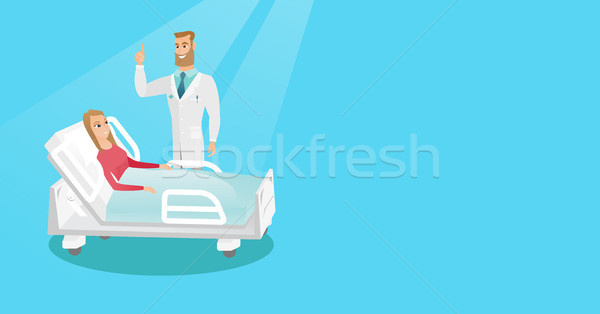Doctor visiting a patient vector illustration. Stock photo © RAStudio