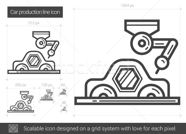 Car production line icon. Stock photo © RAStudio