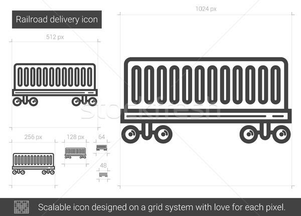 Railroad delivery line icon. Stock photo © RAStudio