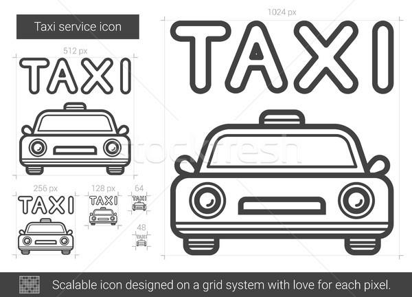 Taxi service line icon. Stock photo © RAStudio