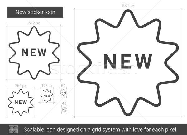 Stock photo: New sticker line icon.